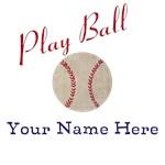 Personalize it!  Plya Ball Baseball Vintage