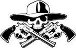 Bandito Skull w/ Pistolas