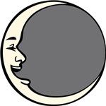 Crescent Face Moon Circle