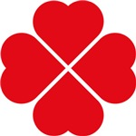 Red Heart Love Clover Symbol