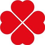 Red Heart Love Clover Symbol