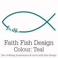 Teal Faith Fish