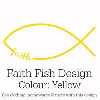 Yellow Faith Fish Design