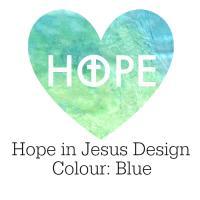Hope in Jesus Design in Blue