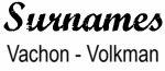 Vintage Surname - Vachon - Volkman