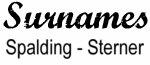 Vintage Surname - Spalding - Sterner