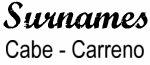 Vintage Surname - Cabe - Carreno