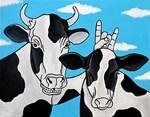 Cows Having Fun