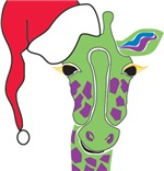 Holiday Giraffe Themed Mugs