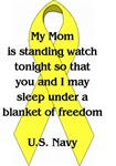 Mom, blanket of freedom