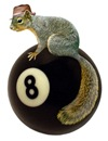 Squirrel on 8 Ball