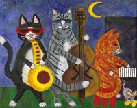 Jazz Cats at Night