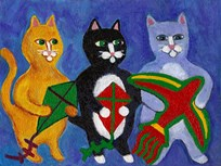 Cats with Kites