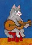 Cat on Guitar