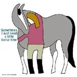 I Need Horse Time - grey