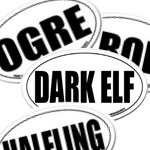 MMORPG & Racial Oval Stickers