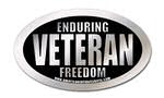 enduring freedom veteran oval sticker