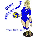 PERSONALIZED VOLLEY MOM