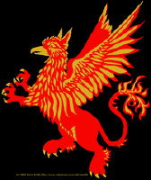 Gryphon in Red and Gold