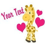 Personalizable Pink Giraffe