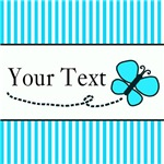 Teal Butterfly Personalizable