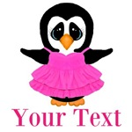 Personalizable Penguin in Pink
