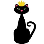 Black Cat with Crown