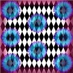 Blue Purple Floral Fantasy