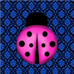 Purple Blue Ladybug