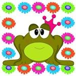 Frog Princess on Flowers
