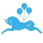 Blue Party Pony