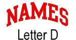 Names (red) Letter D