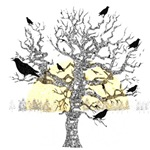 Primitive Crows & Autumn Tree