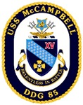 USS McCampbell DDG 85 US Navy Ship