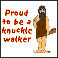 KNUCKLE WALKER T-SHIRTS & GIFTS
