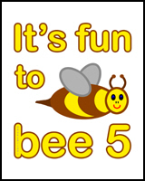 BEE 5th BIRTHDAY T-SHIRT
