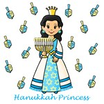 Hanukkah Princess (Black Hair)
