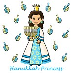 Hanukkah Princess (Brown Hair)