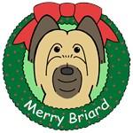 Briard Christmas Ornaments