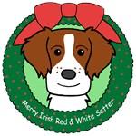 Irish Red & White Setter Christmas Ornaments