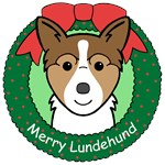 Norwegian Lundehund Christmas Ornaments