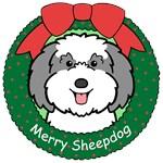Old English Sheepdog Christmas Ornaments