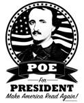 Poe For President Light Clothing Black Logo