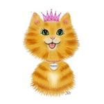Orange Tabby Cartoon<br>Princess Kitten