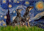 STARRY NIGHT<br>& Doberman PInscher Pair