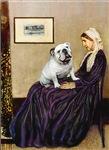 WHISTLER'S MOTHER<br>& White English Bulldog