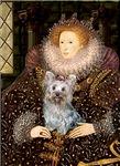 QUEEN ELIZABETH I<br>& Yorkshire Terrier
