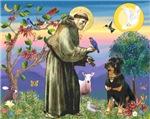 SAINT FRANCIS<br>& Rottweiler #5