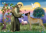 Saint Francis with a<br>Fawn Great Dane