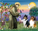 Saint Francis with<br>Two Collies